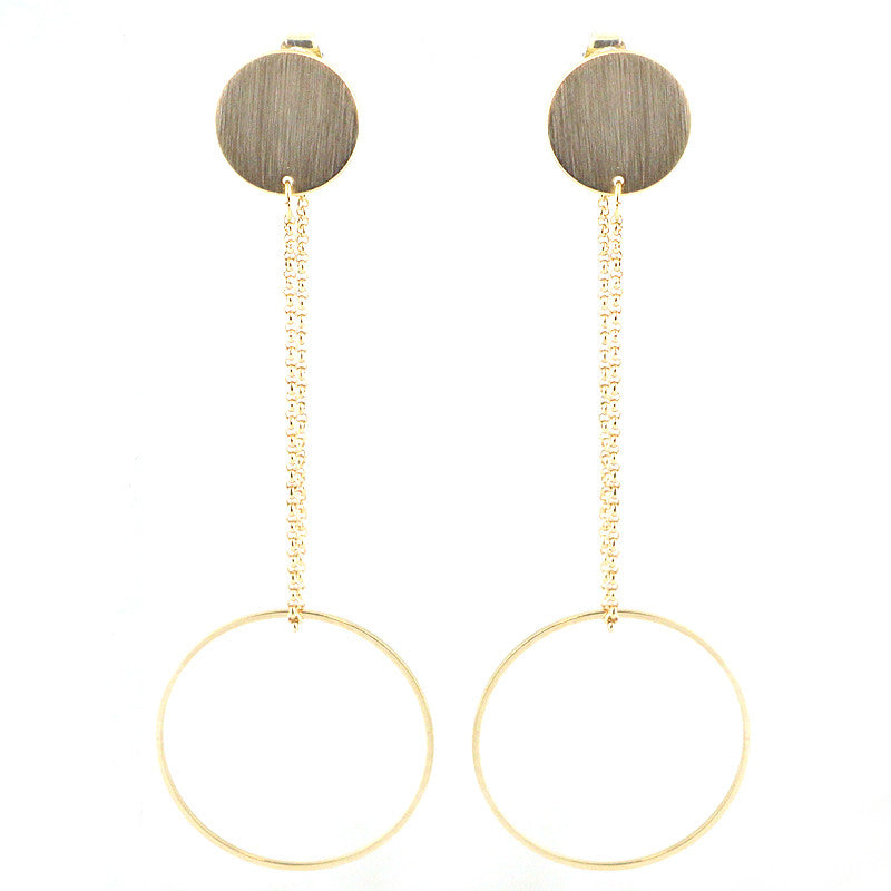 Lightweight Geometric Cutout Brass Earrings