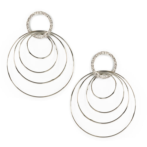 Lightweight Hoop Drop Earrings