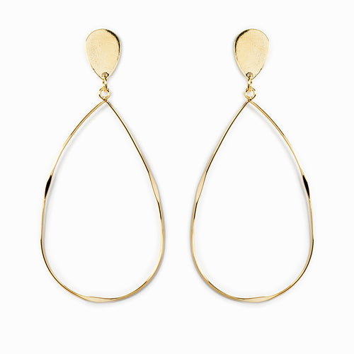Lightweight Metal Teardrop Earrings