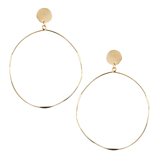 Lightweight Metal Hoop Drop Earrings