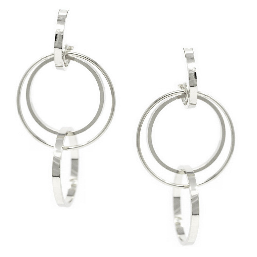 Urban Multi Hoop Drop Earrings