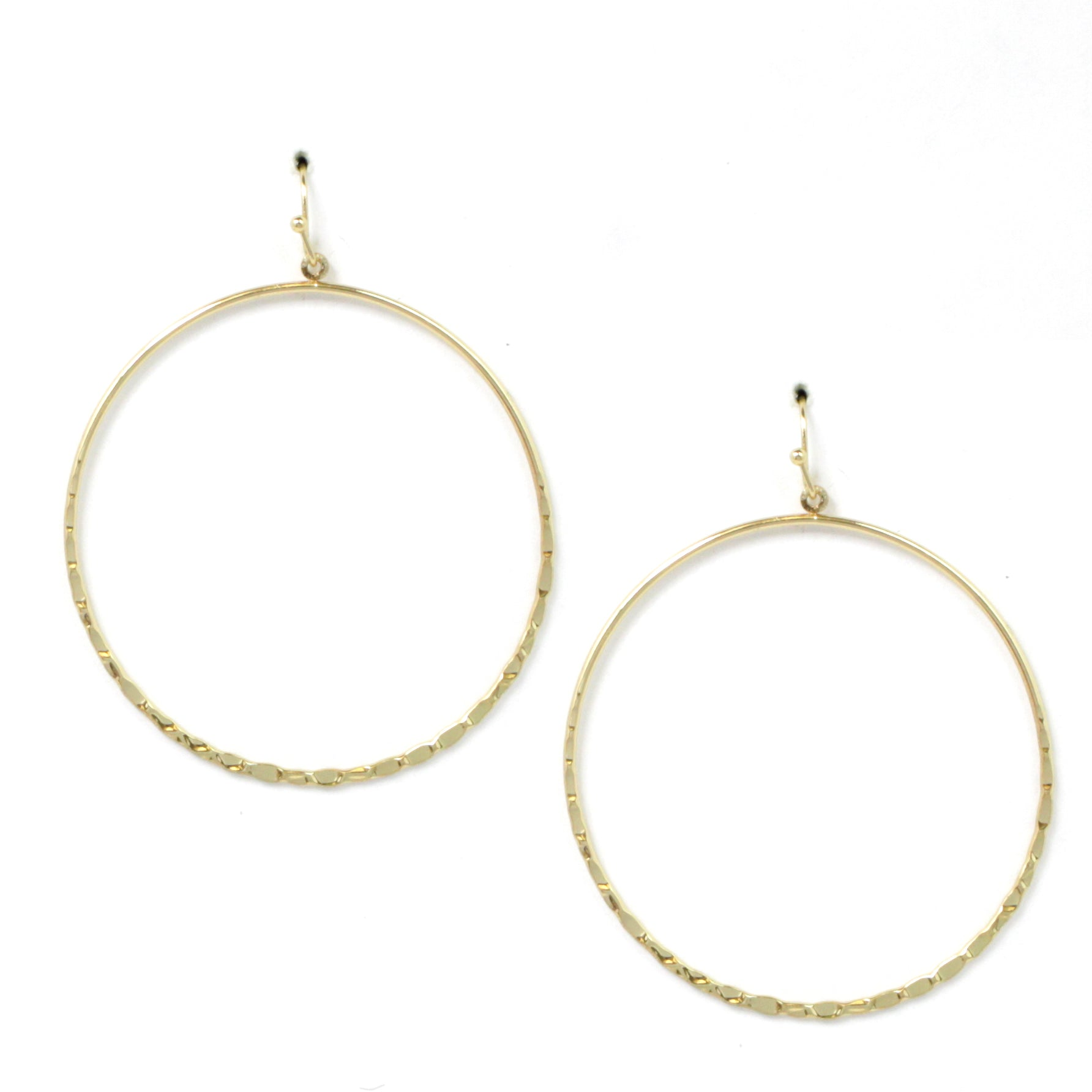 Lightweight Geometric Urban Brass Earrings