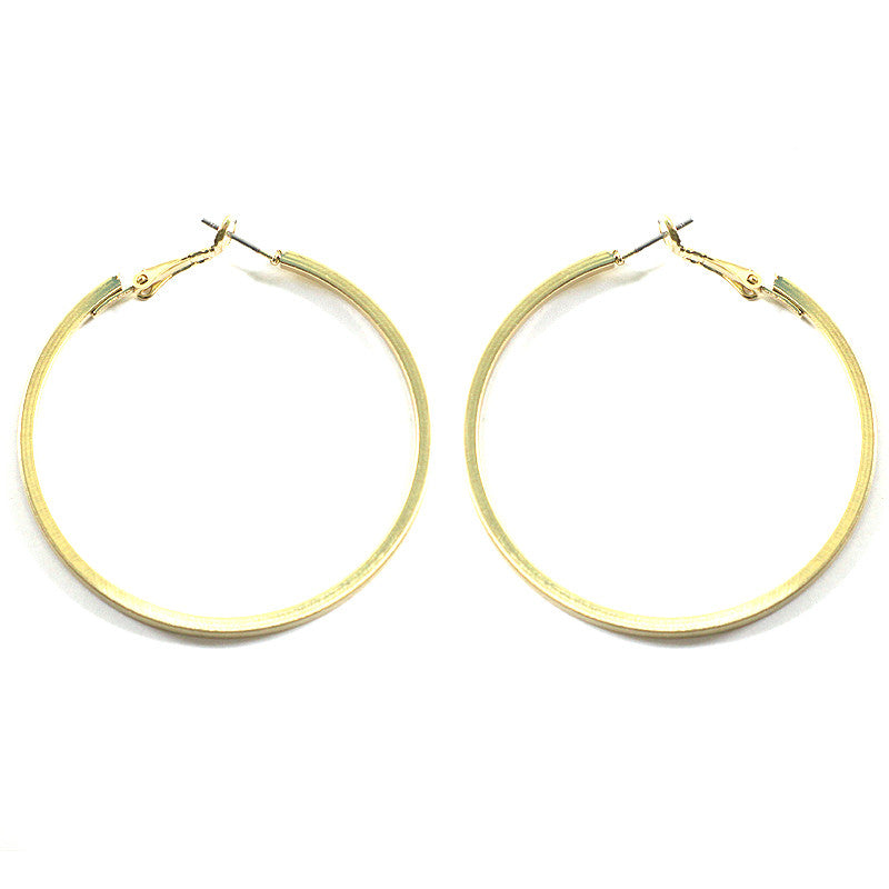 Satin Plated Matte Hoop Earrings
