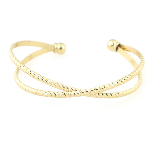 Sleek Rope X Shape Cuff Bracelet