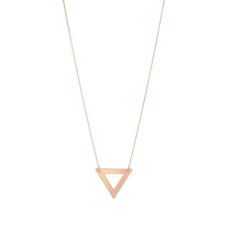 Geometric Pendant Long Necklace