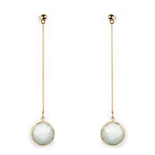 Semi Precious Stone Chan Drop Earrings