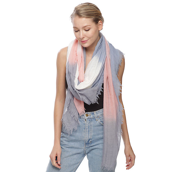 Ombre Border Oblong Scarf