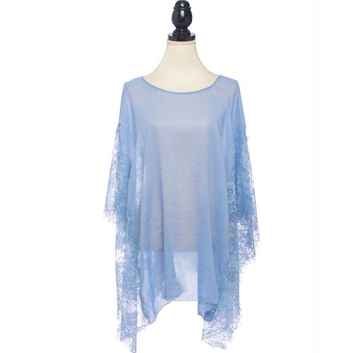 Glitter Lace Hem Cover Up