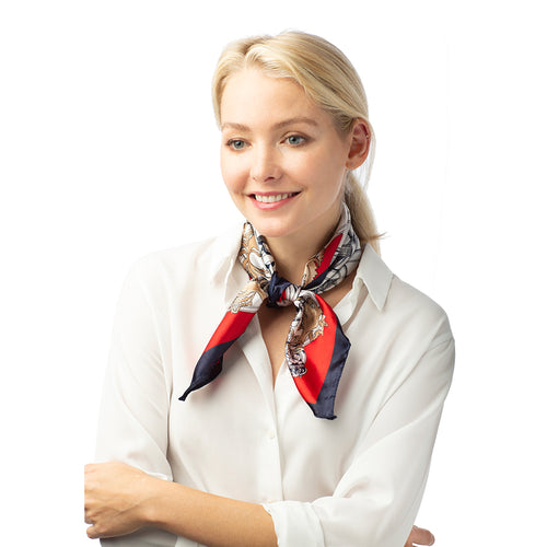Chain Print Neckerchief Scarf