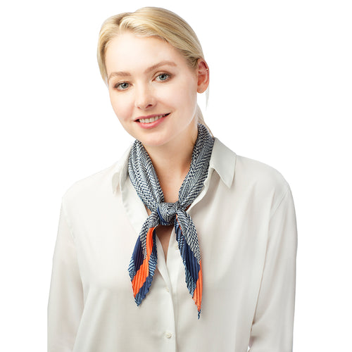 Pleated Satin Scarf