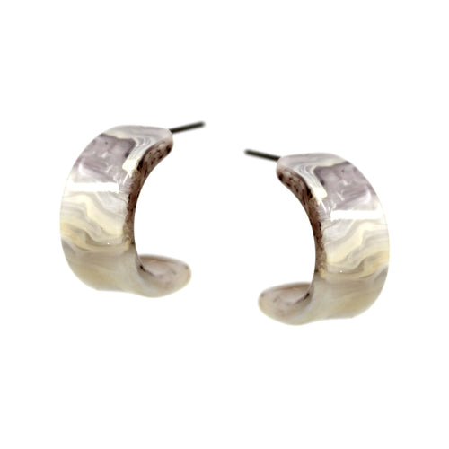 Textured Acetate Hoop Earrings (20 mm)