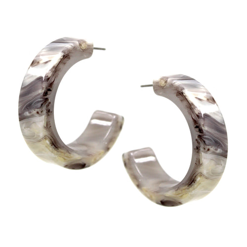 Textured Acetate Hoop Earrings (40 mm)