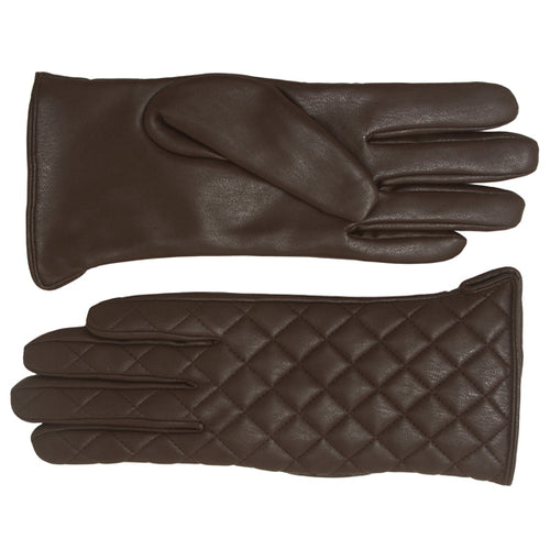 Embossed Faux Leather Gloves
