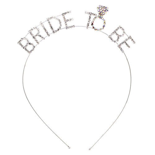 BRIDE TO BE Rhinestone Pave Headband