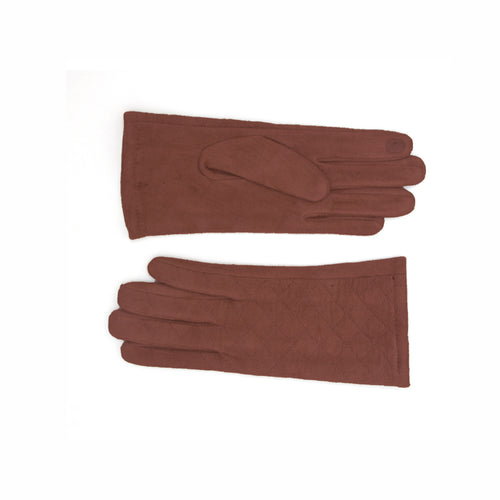 Magic Touch Embossed Suede Gloves
