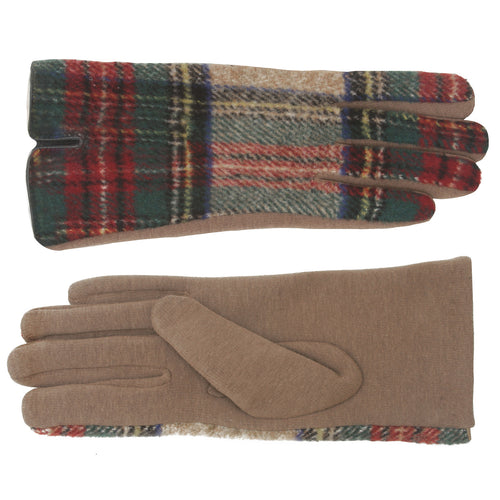 Plaid Thermal Smart Gloves