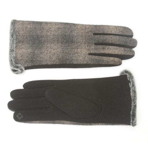 Magic Touch Plaid Thermal Smart Gloves
