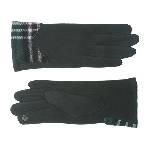 Magic Touch Edge Plaid Thermal Smart Gloves