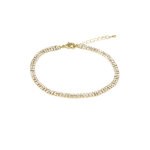 Two Row Rhinestone Anklet