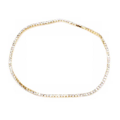 Rhinestone Single Strand Stretch Anklet