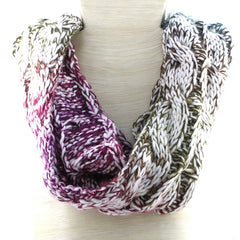 Two-toned Single Loop Scarf