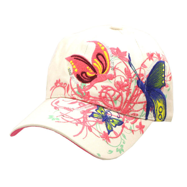 Fashionable Butterfly Bling Baseball Hats