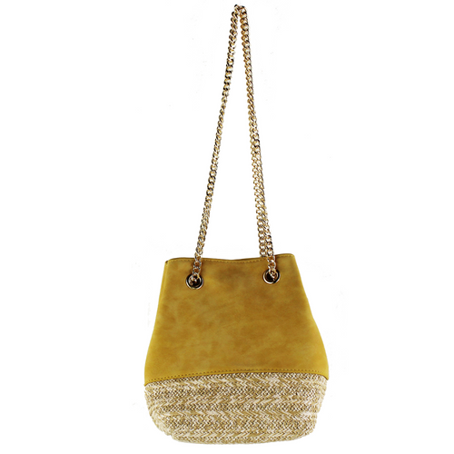 Sliding Chain Strap Mini Bucket Bag
