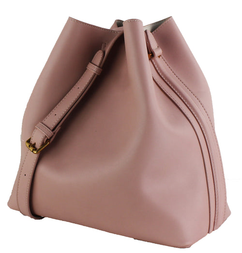 STREET LEVEL Faux Leather Bucket Tote Bag