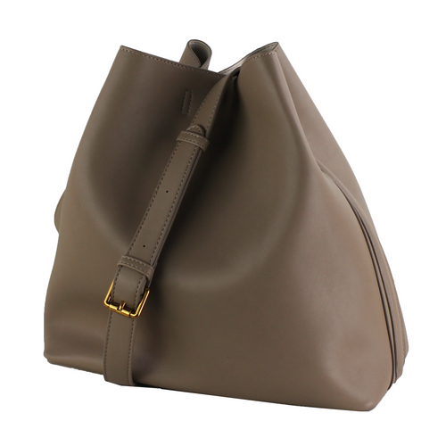 Vegan Leather Bucket Hobo Shoulder Bag
