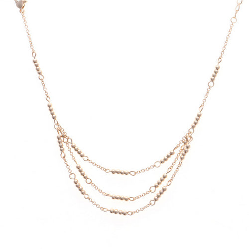 Layered Metal Bead Delicate Anklet