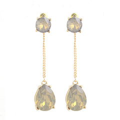 Double Sided Linear Drop Earrings