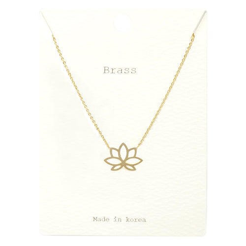 Lotus Pendant Short Necklace