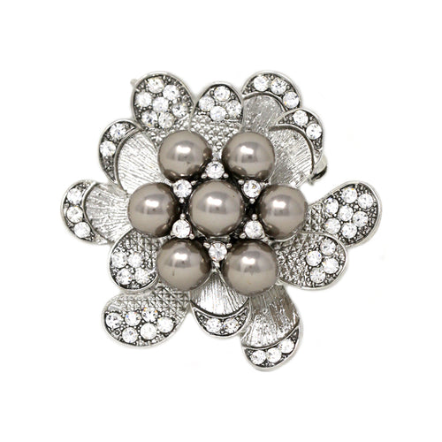 Pearl Flower Pin Brooch