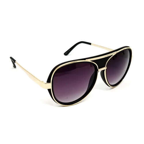 Metal Frame Trimmed Fashion Sunglasses
