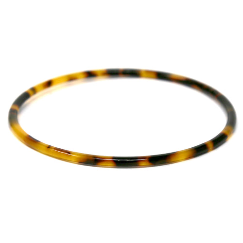 Tortoise Texture Acetate Thin Bangle Bracelet