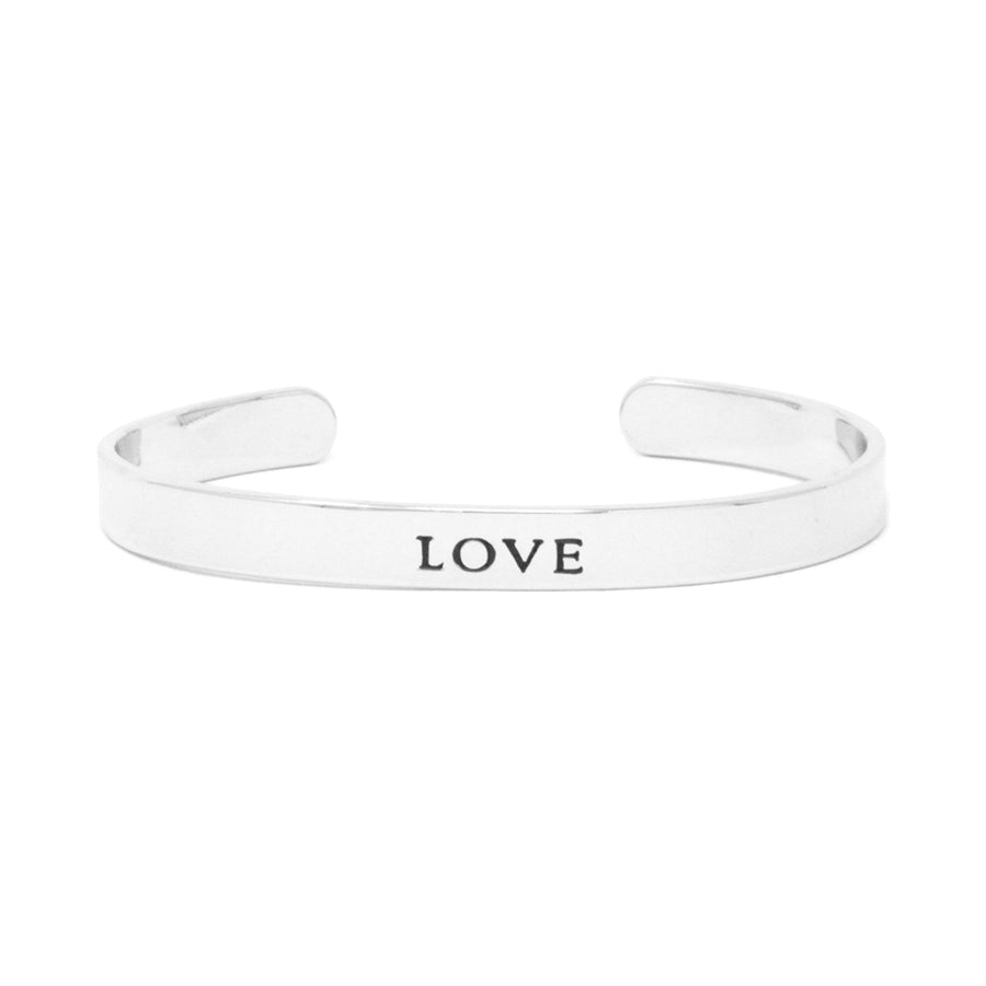 LOVE Inspirational Message Cuff Bracelet