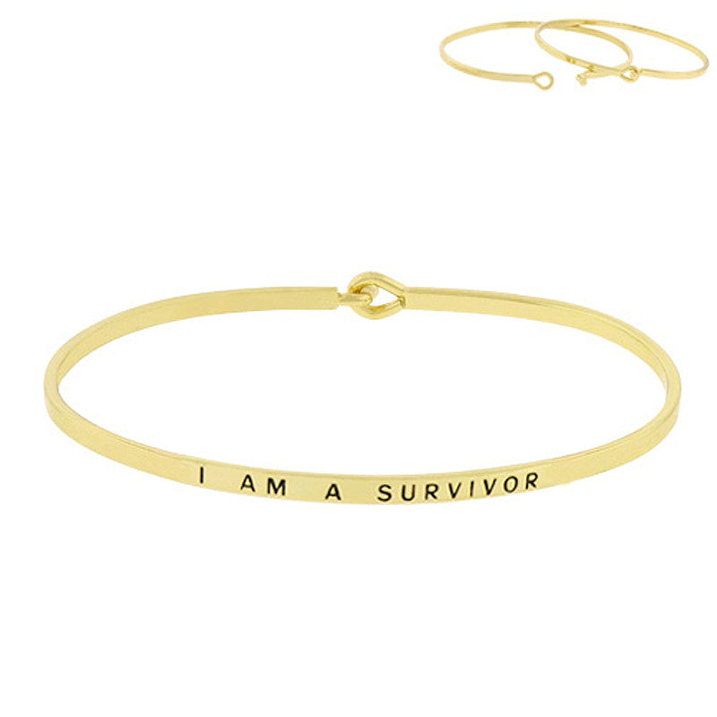 I AM A SURVIVOR Message Bracelet