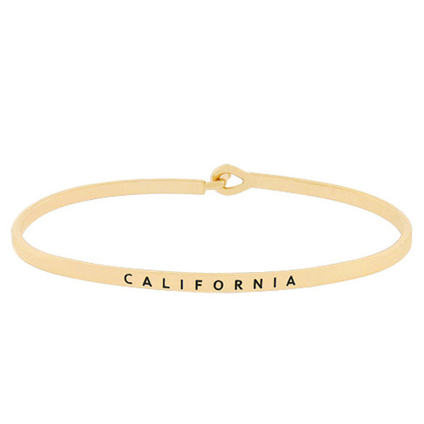 CALIFORNIA State Map Bracelet