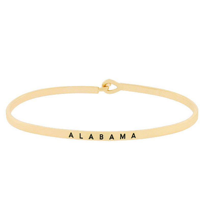 ALABAMA State Map Bracelet