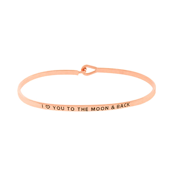 I LOVE YOU TO MOON AND BACK Message Bracelet