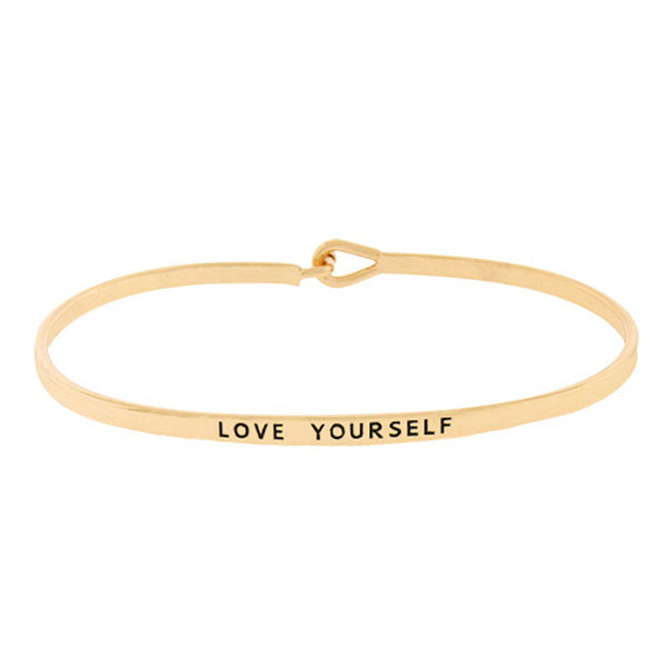 LOVE YOURSELF Message Bracelet