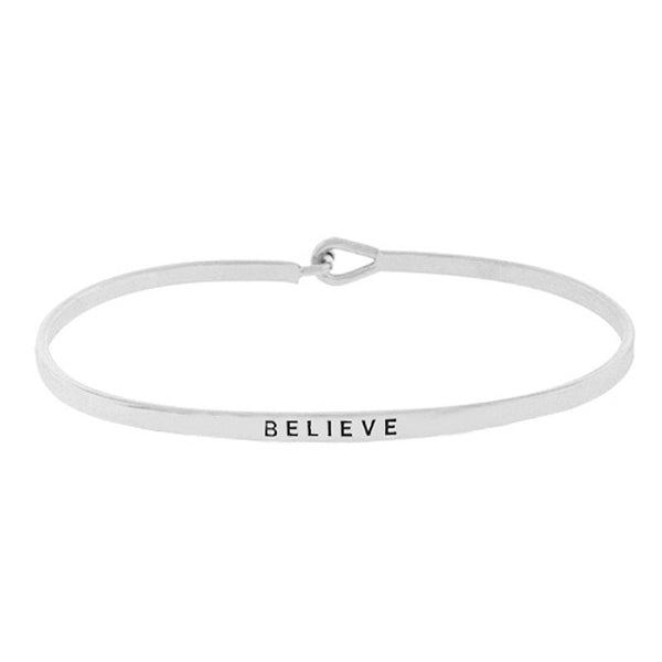 BELIEVE Message Bracelet