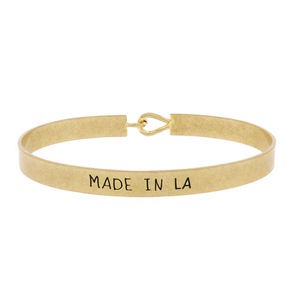 Made in LA - State Map Brass Bracelet