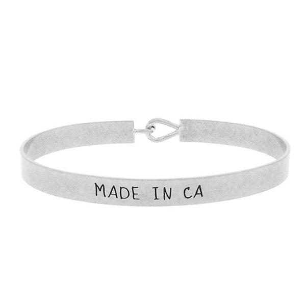 Made in CA - State Map Brass Bracelet