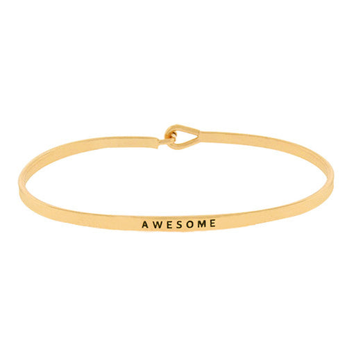 AWESOME Inspirational Message Bracelet
