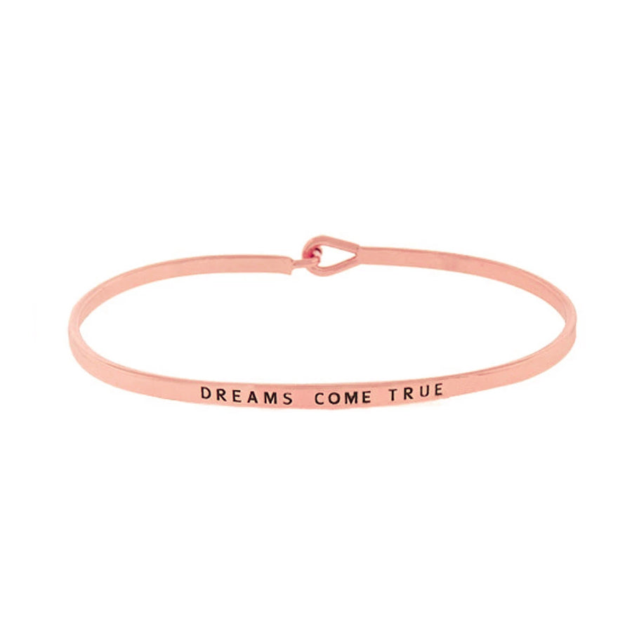 DREAMS COME TRUE Message Bracelet