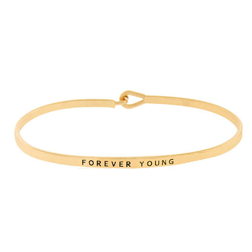 FOREVER YOUNG Message Bracelet