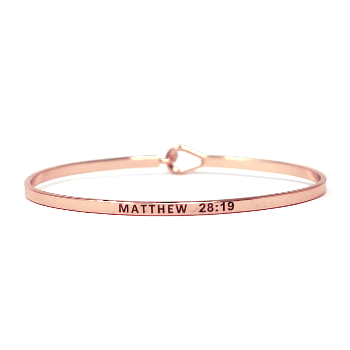 MATTHEW 28 : 19 Inspirational Message Bracelet