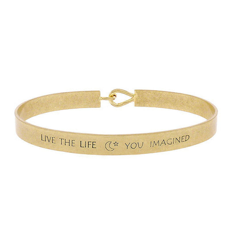LIVE THE LIFE YOU IMAGINED Message Bracelet