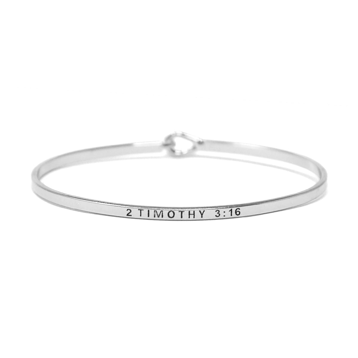 2 TIMOTHY 3: 16 Inspirational Message Bracelet